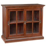 Emily Glass Cabinet, Light Mahogany