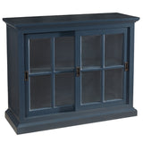 Emily Glass Cabinet, Navy
