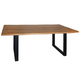 Turia Live Edge Dining Table, Natural