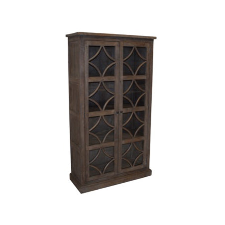 Danube Wood and Glass Cabinet, Graphite