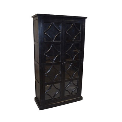 Danube Wood and Glass Cabinet, Ebony