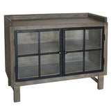 Atticus Iron & Wood Cabinet, Graphite