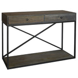 Aare Console, Grey Brown