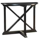 Cross Demilune Console, Black