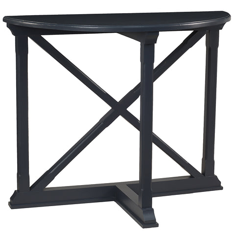 Cross Demilune Console, Navy