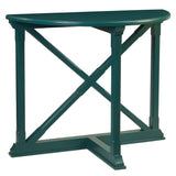 Cross Demilune Console, Ocean Green