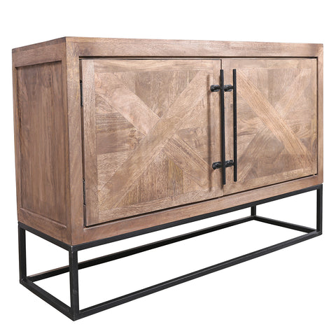 Aoos Parquet Sideboard, Light Bleach