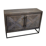 Aoos Parquet Sideboard, Grey Brown