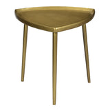Biltmore Iron Side Table, Antique Brass