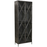 Thurman Iron & Glass Cabinet, Dark