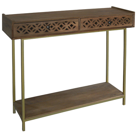 Adonis Wood Console, Light Bleach