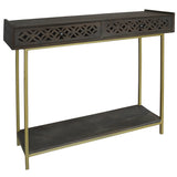 Adonis Wood Console, Graphite