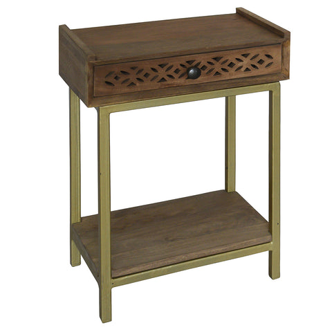 Adonis Wood Side Table, Light Bleach