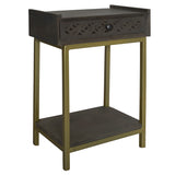 Adonis Wood Side Table, Graphite