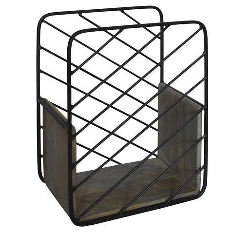 Adonis Magazine Rack, Gray Brown