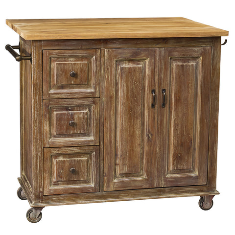 Sampson Kitchen Cart, Gray Wash
