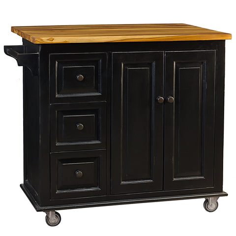 Sampson Kitchen Cart, Black