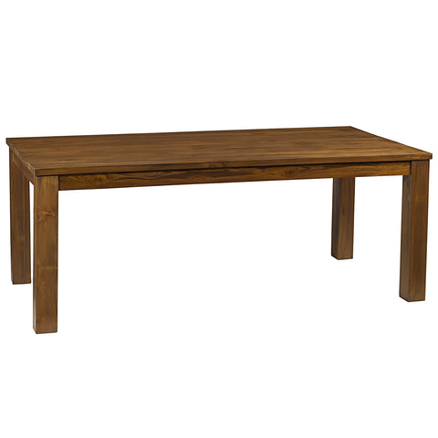 "Benicia Teak Dining Table 78"", Brown"