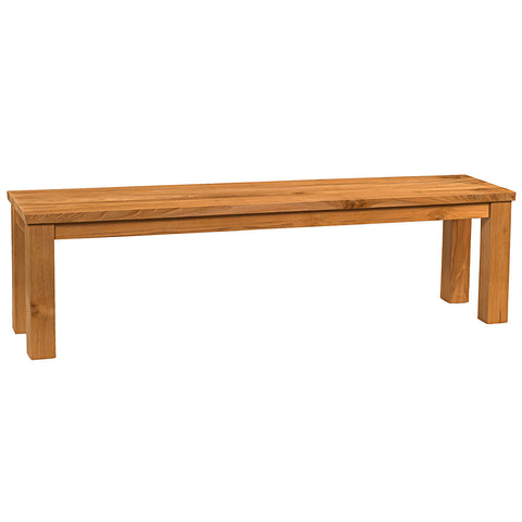 "Benicia Teak Dining Bench 67"", Natural"