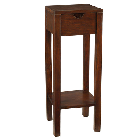 Valmont Pedestal Table, Light Mahogany
