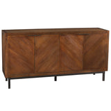 Chevron Sideboard, Dark Gray Wash