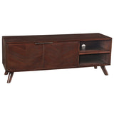 Chevron Media Stand, Dark Mahogany