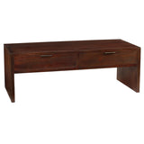 Dove 2 Drawer Coffee Table, Dark Mahogany