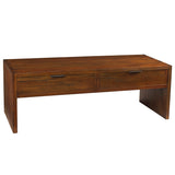 Dove 2 Drawer Coffee Table, Honey