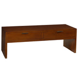 Dove 2 Drawer Coffee Table, Light Walnut