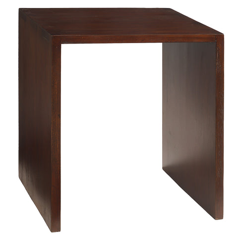 Dove Side Table, Dark Mahogany