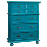Callie Tall Chest, Teal