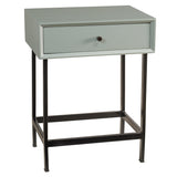 Brooke End Table, Slate Blue