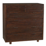 Dove 6 Drawers Chest, Walnut