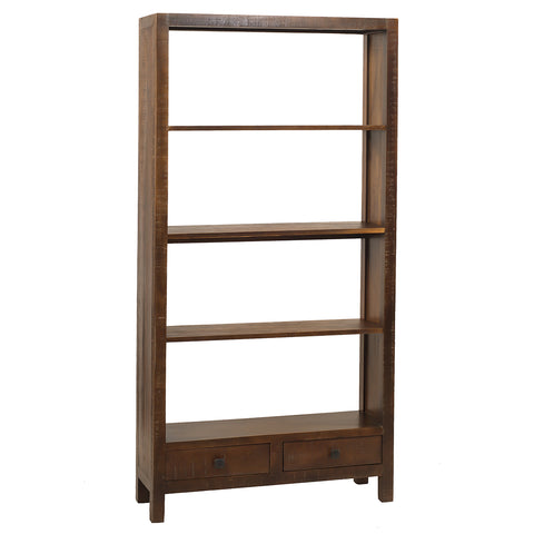 Betty Bookcase Large, Rustic Dark Gray Wash