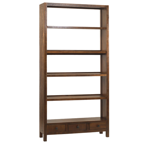Betty Bookcase Extra Large, Rustic Dark Gray Wash