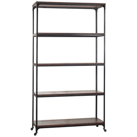 "Bedford Library Shelves 107"", Rustic Tobacco"