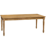 Meredith Turned Leg Dining Table, Gray Wash