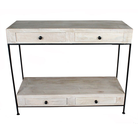Alma Console Table, Whitewash