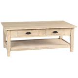 Chewi Coffee Table, Whitewash