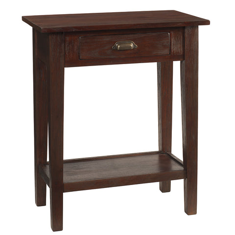 Chewi One Drawer Console, Dark Mahogany