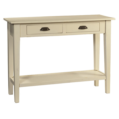 Chewi Two Drawer Console, Cloud White