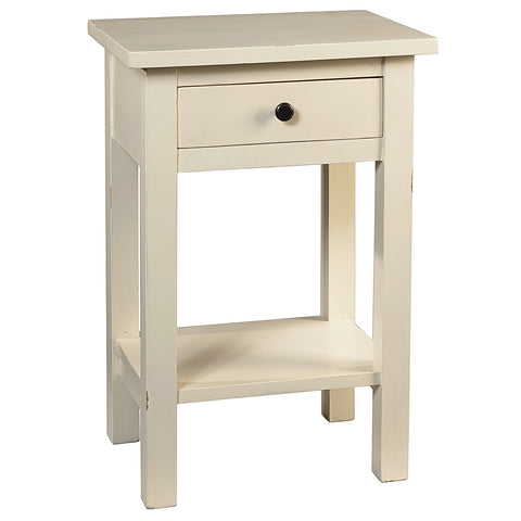 Tarakan End Table, Cloud White