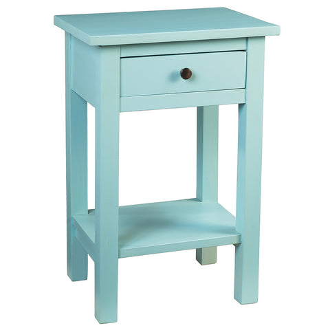 Tarakan End Table, Aqua