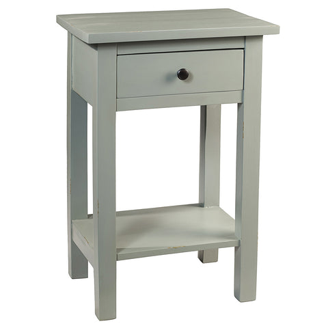 Tarakan End Table, Slate Blue