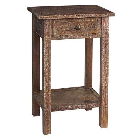 Griffin Side Table, Dark Gray Wash