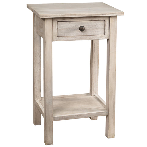 Griffin Side Table, Whitewash
