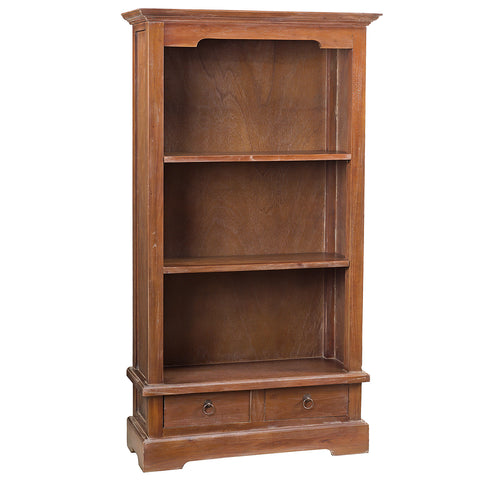 "Charlotte Bookcase 55"", Dark Gray Wash"