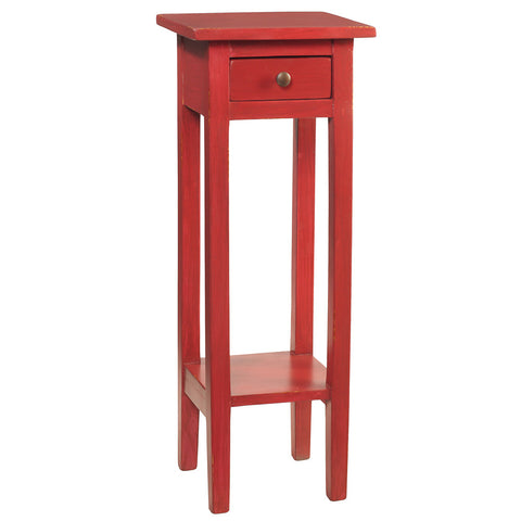 Sumatra Pedestal Table, True Red