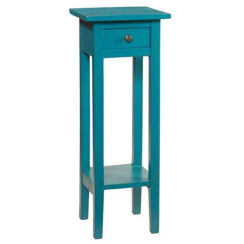 Sumatra Pedestal Table, Ocean Green