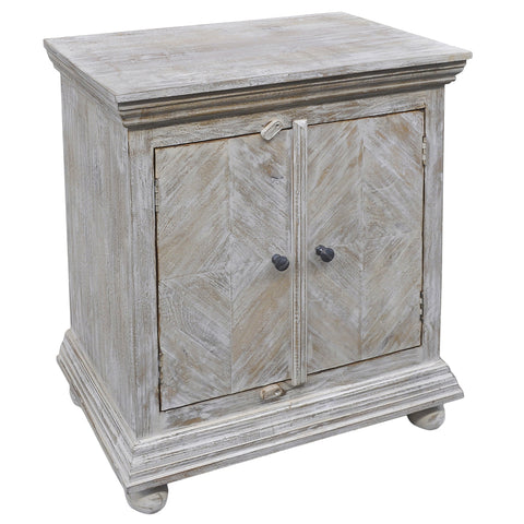Tarik Wooden Cabinet, Light White
